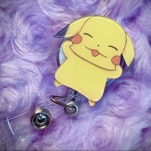 Kawaii Pikachu Badge Holder - Pokemon Badge Reel